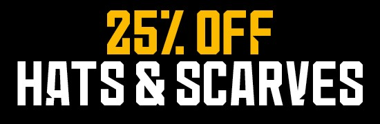 25% Off Hats & Scarves