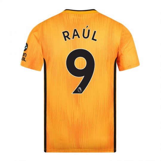 19-20 Wolves Home Shirt with RAUL Print - Adult