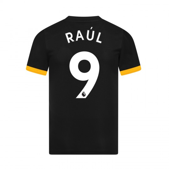 19-20 Wolves Away Shirt with RAUL Print - Junior