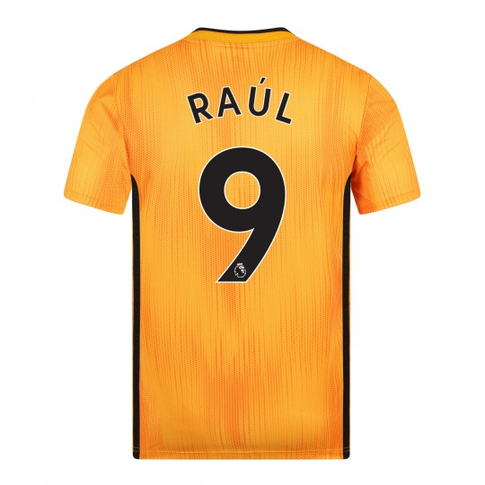19-20 Wolves Home Shirt with RAUL Print - Junior