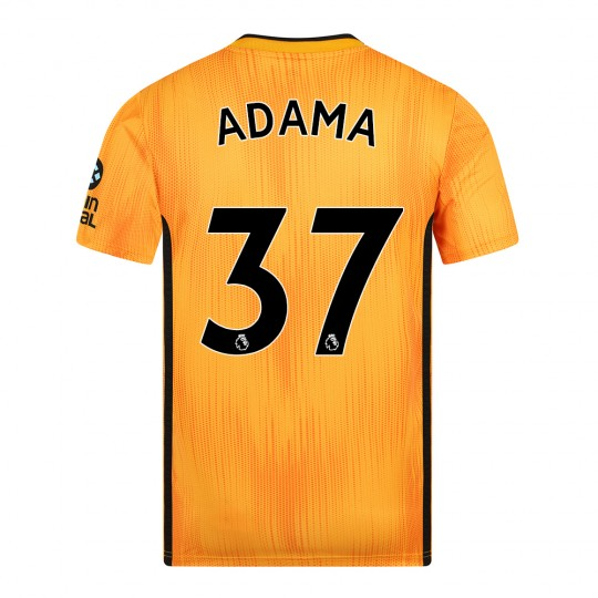 19-20 Wolves Home Shirt with ADAMA Print - Adult