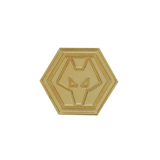 Gold Plated Crest Pin Badge