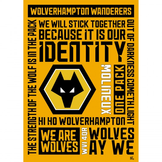 Wolverhampton Wanderers FC A2 Word Poster