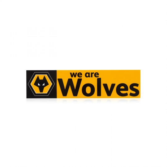 WE ARE WOLVES CAR STICKER