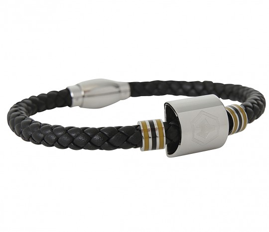 COLOUR STRIPE CREST BRACELET