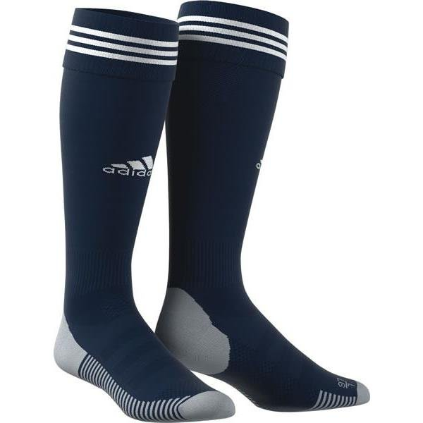 2020-21 Wolves Away Change Socks - AdultTake your game further in these ventilated football socks.Designed to offer a locked-in fit and greater comfort, they have strategically placed mesh ventilation to keep you cool on the pitch.A navy sock with three adidas white stripes and adidas logo to the front of the sock