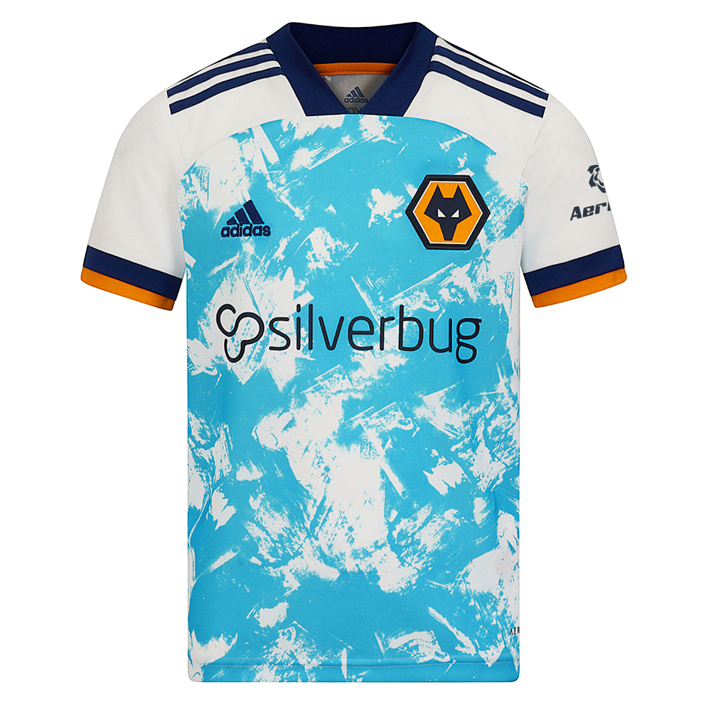 2020-21 Wolves Away Shirt - JuniorHome or away, Wolverhampton Wanderers always put on a show.Suit up your young fan in this pint-size version of the club's road jersey. Born on the canvas, the design has a hand-painted element. The soft fabric keeps kids dry as they cheer on the team or run around the pitch.This Wolves Shirt is made with recycled polyester to save resources and decrease emissions.Moves sweat away from your skin so you stay dry every step of the way so sweat but don´t sweat it.100% rec polyesterRibbed V-neckMoisture-absorbing AEROREADY