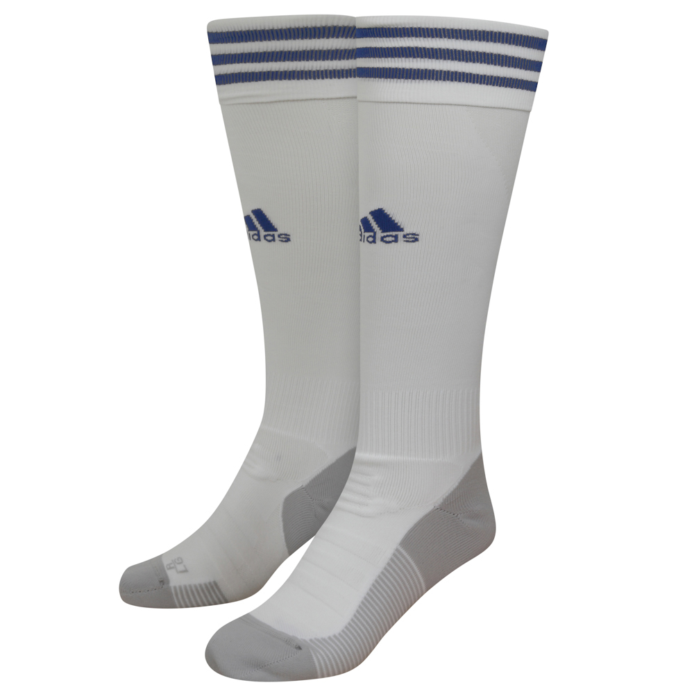 2020-21 Wolves Away Socks - JuniorTake your game further in these ventilated football socks.Designed to offer a locked-in fit and greater comfort, they have strategically placed mesh ventilation to keep you cool on the pitch. A white sock with three adidas navy stripes and adidas logo to the front of the sock.