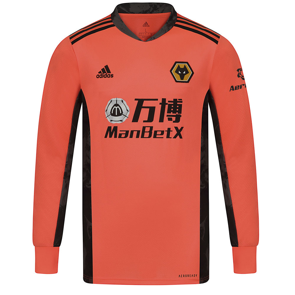 2020-21 Wolves Away Goalkeeper Shirt - AdultOthers share the pitch. But the box is yours. Own it in an Wolves goalkeeper Shirt that stands out from the crowd with a vibrant graphic on its sides and collar. Heat-transfer details and lightweight fabric combine to support lightning-fast reactions. This Wolves football shirt is quick-drying for confident handling.Moves sweat away from your skin so you stay dry every step of the way. Sweat but don´t sweat it.50% Polyester/50% rec polyesterRibbed cuffsThis jersey is made with recycled polyester to save resources and decrease emissionsGraphic V-neck collarLightweight, moisture-absorbing AEROREADY fabric