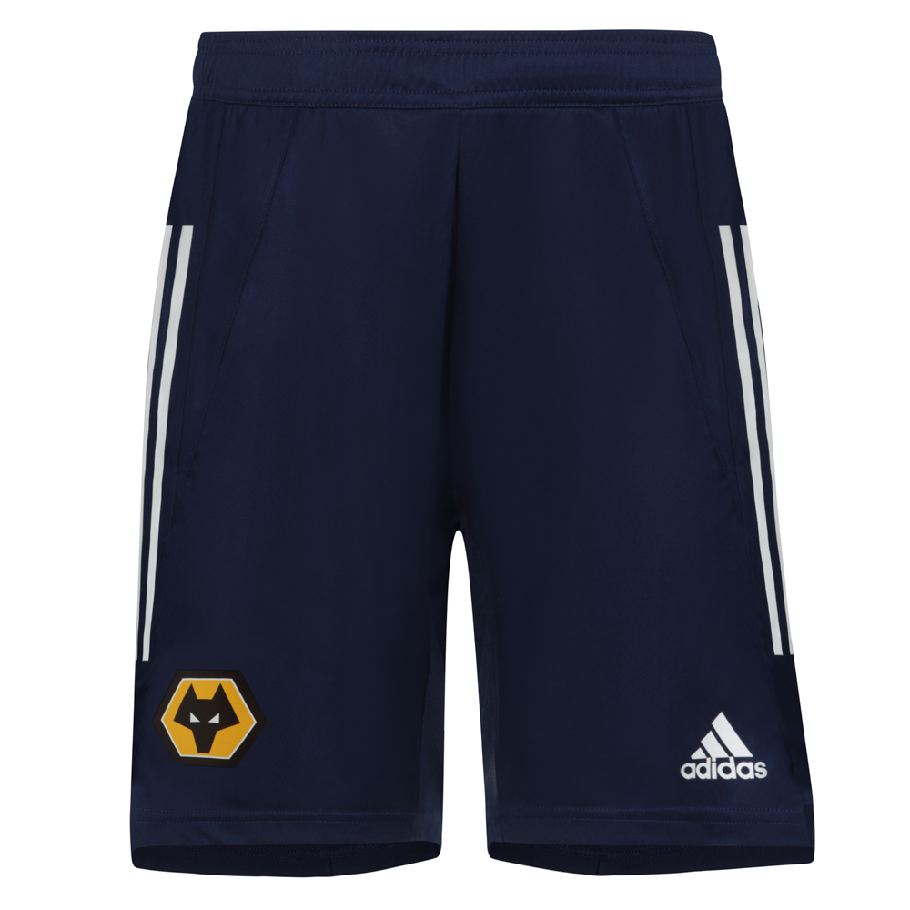 2020-21 Players Training Short - Navy Run fast and sweat hard. These Wolves adidas Training Shorts keep up with tough training sessions. You'll stay dry and comfortable thanks to the lightweight, moisture-managing fabric.Slip your phone and keys into the zip pockets and jump into the game.Elastic waist with drawcord100% recycled polyester interlockLightweight, moisture-absorbing AEROREADY fabricZip pockets