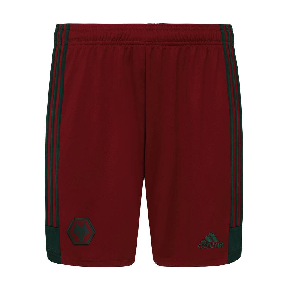2020-21 Wolves 3rd Shorts - Adult Featuring a woven contrasting Green Wolves crest on the front right leg and a Green adidas logo to the left leg. adidas Green adidas stripes run down both legs.Lightweight, moisture-absorbing AEROREADY fabric100% Polyester