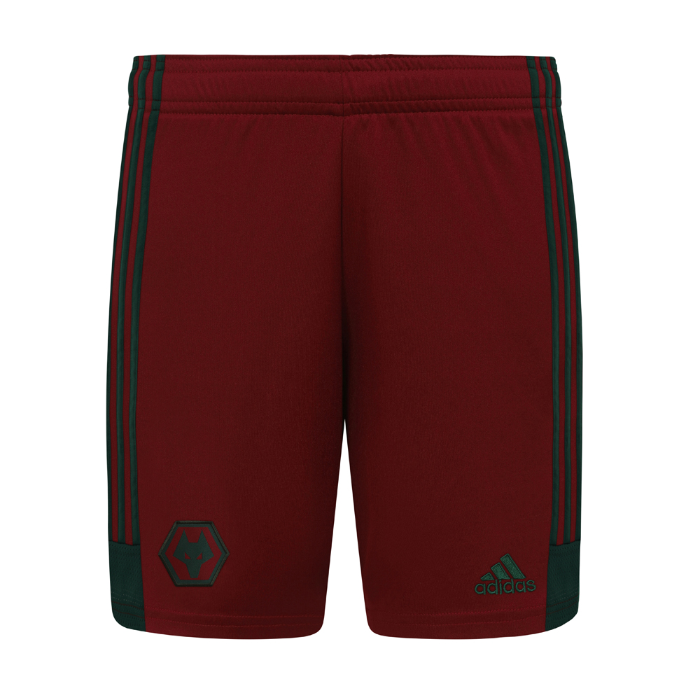 2020-21 Wolves 3rd Shorts - Junior Featuring a contrasting Green woven Wolves crest on the front right leg and a Green adidas logo to the left leg. Green adidas stripes run down both legs.Lightweight, moisture-absorbing AEROREADY fabric100% Polyester