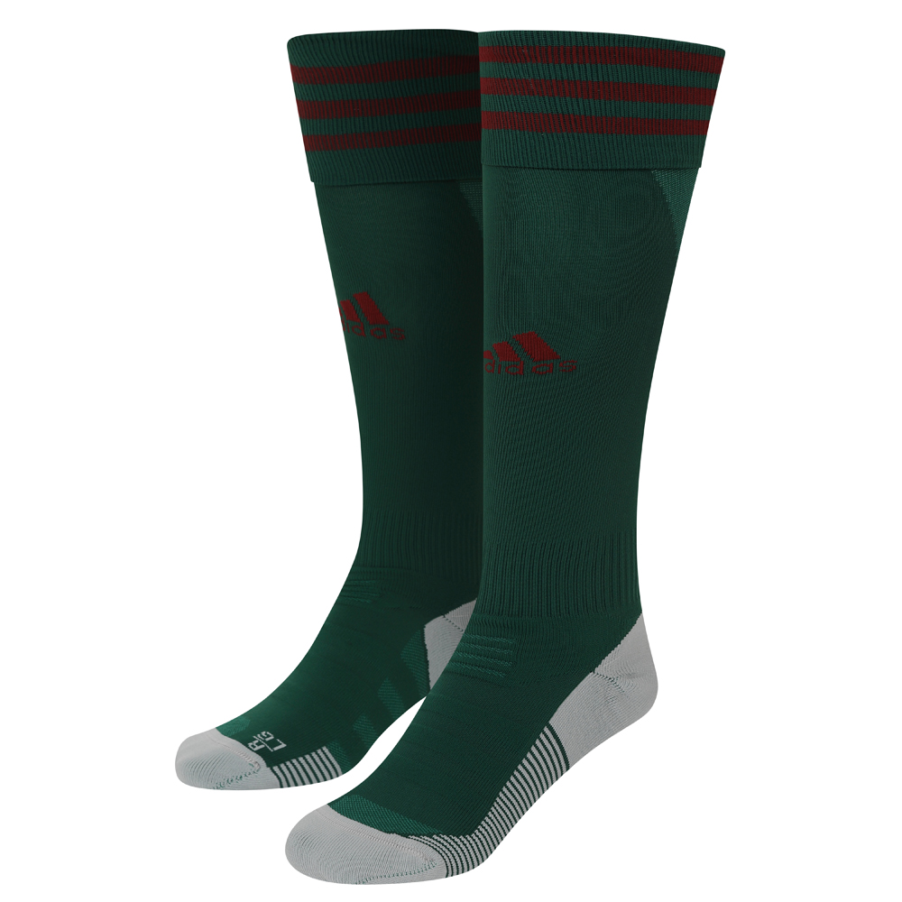 2020-21 Wolves 3rd Socks - Junior Take your game further in these ventilated Wolves socks. Designed to offer a locked-in fit and greater comfort, they have strategically placed mesh ventilation to keep you cool on the pitch.A Green sock with three adidas Burgundy stripes and adidas logo to the front of the sock.Climacool and tech fit technology.