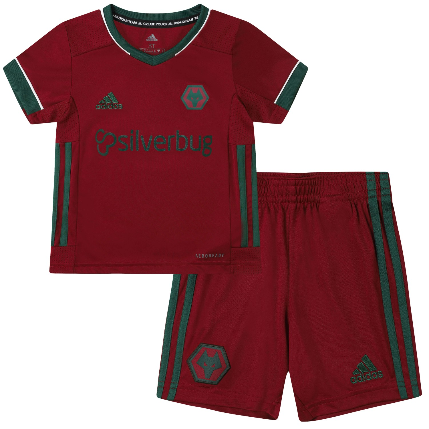 2020-21 Wolves 3rd Infant Kit Help your little one to stand out from the crowd. The Shirt carries our junior front of shirt sponsor Silverbug.Comes complete with shorts and socks.100% polyester