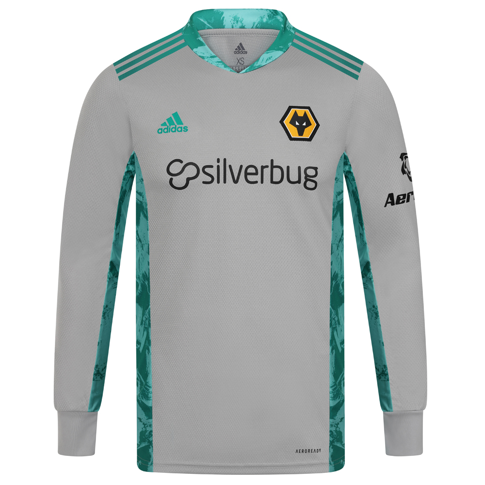 2020-21 Wolves 3rd Goalkeeper Shirt - Junior Others share the pitch. But the box is yours. Stand out from the crowd in this Junior Wolves Goalkeeper Shirt. Its collar and side panels flash a vibrant graphic. Lightweight fabric and heat-transfer details help you hit new heights.Moves sweat away from your skin so you stay dry every step of the way. Sweat but don´t sweat it. This Goalkeeper Shirt is quick-drying to keep you comfortable as you own your area.Made with recycled polyester to save resources and decrease emissionsLightweight, moisture-absorbing AEROREADY fabricHighlight graphics on sides and under arms50% Polyester/50% rec polyester