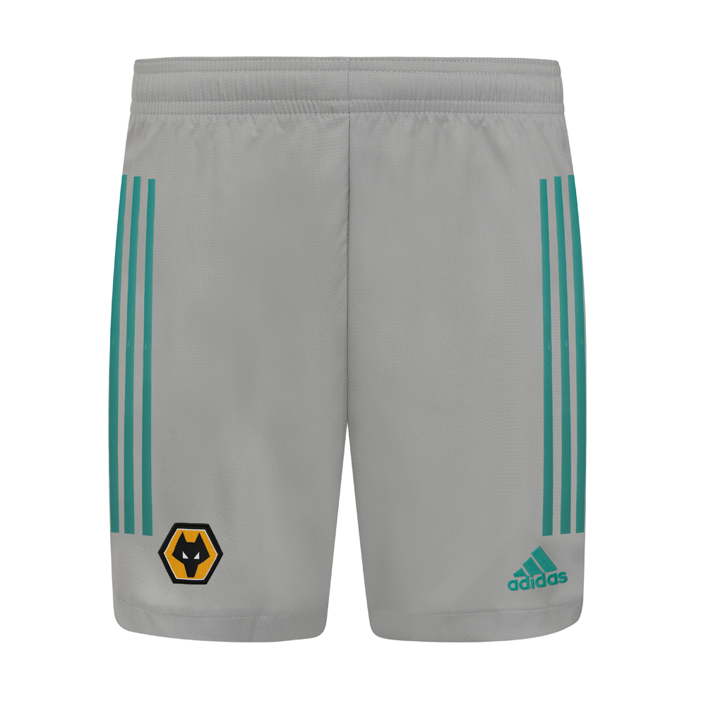 2020-21 Wolves 3rd Goalkeeper Shorts - Adult Moves sweat away from your skin so you stay dry every step of the way. Sweat but don´t sweat it.Look your sharpest on the football pitch. These Wolves Goalkeeper Shorts take design cues from the elite game, with curved hems and heat-transfer details. The lightweight fabric will keep you flying around the pitch while ensuring sweat doesn't slow you down.Elastic waist with drawcord100% polyester dobbyLightweight, moisture-absorbing AEROREADY fabric
