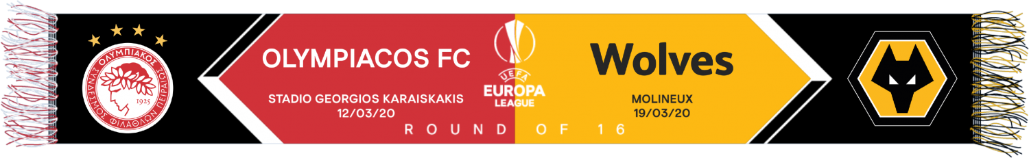 Round Of 16 V Olympiacos Woven Match Scarf  Multi