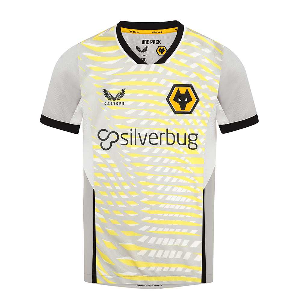 2021-22 Wolves Home Goalkeeper Shirt - JuniorBe Part Of the Pack, with the 2021-22 Wolves Home Goalkeeper Shirt and show your pride on the street and in the stands.Features Key mirroring design features to the Home Shirt so when Keepers walk on to the pitch to play there is 'Unity' between the whole team.Front pattern emulates the pattern on the rear of Home shirt, blown out and printed in vibrant colours, in addition to same neckline, cut and cuffs.100% Polyester