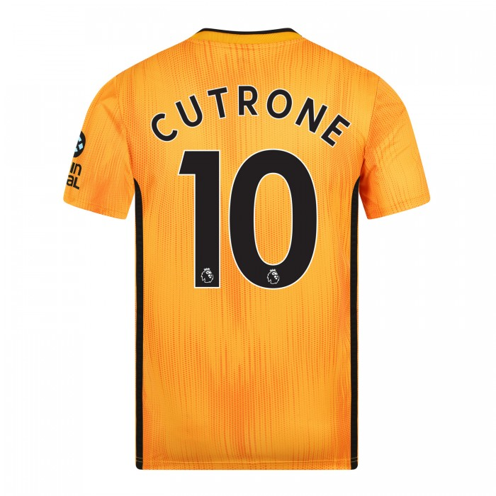 19-20 Wolves Home Shirt with CUTRONE Print - Adult