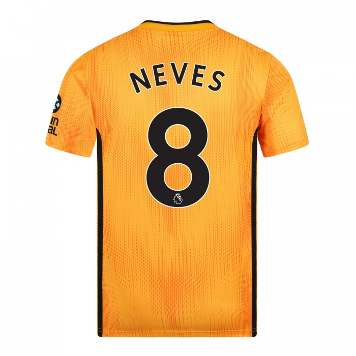 19-20 Wolves Home Shirt with NEVES Print - Adult