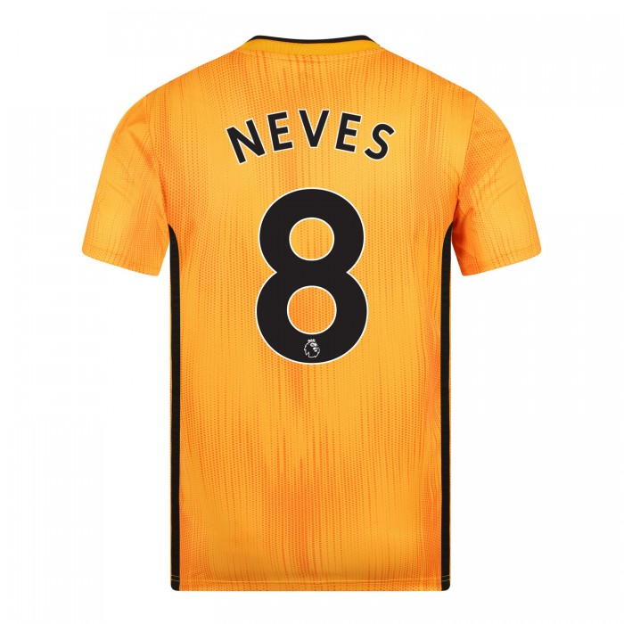 19-20 Wolves Home Shirt with NEVES Print - Junior