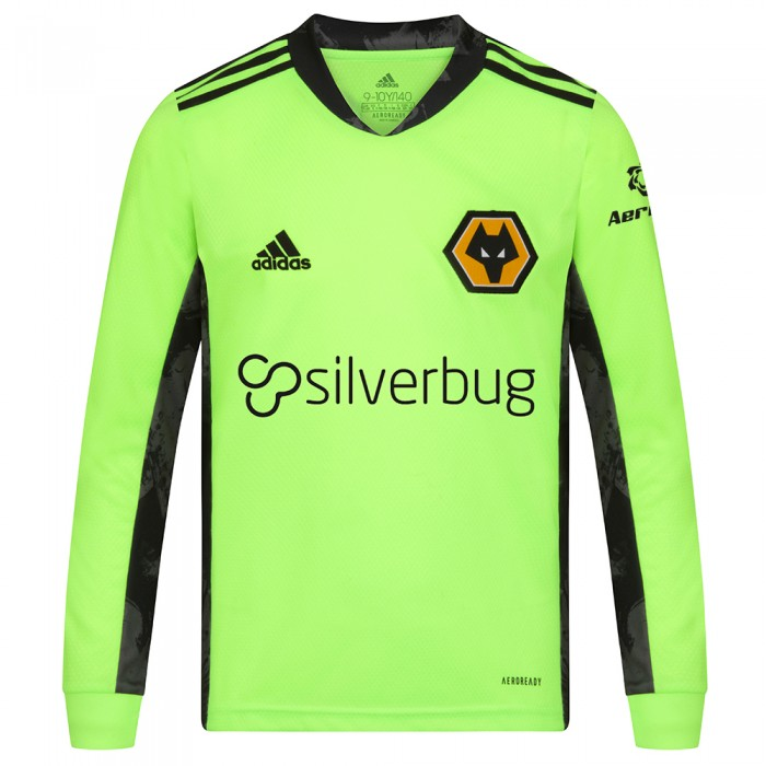2020-21 Wolves Home Goalkeeper Shirt - Junior
