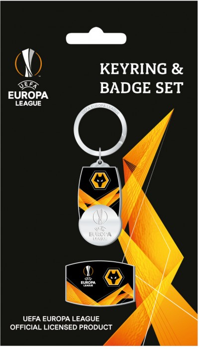 Europa League Keyring and Badge Set