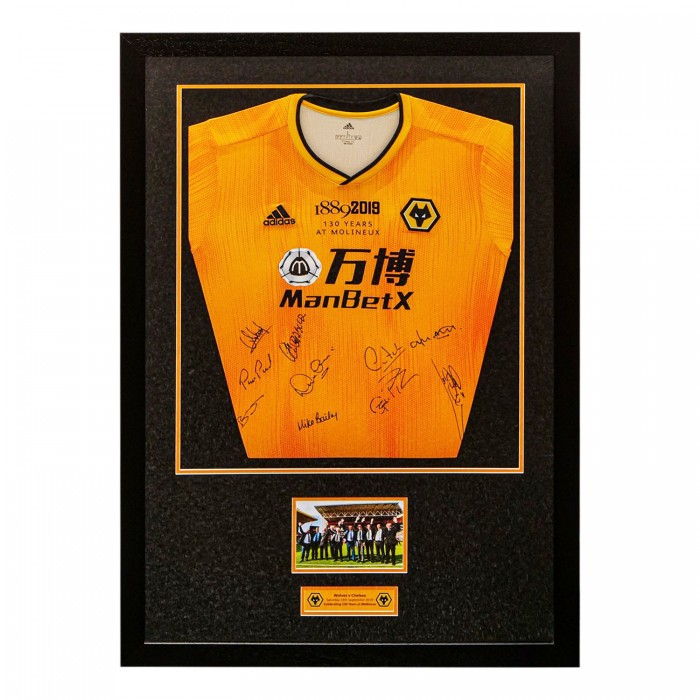 Molineux 130 Years Signed Framed Shirt