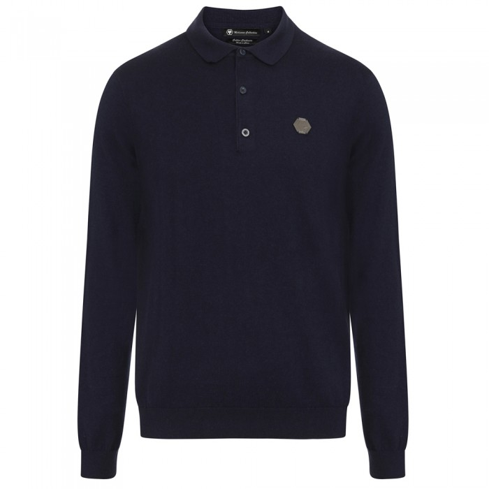 Molineux Long Sleeved Polo - Navy