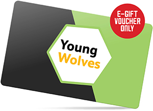 Young Wolves Membership Gift Voucher - 3 -11 Years