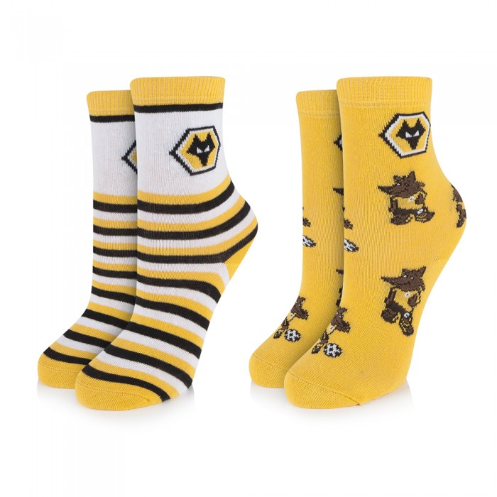 TWIN PACK JUNIOR MASCOT SOCKS