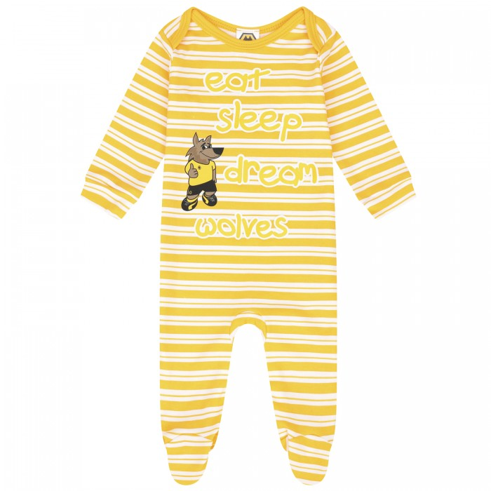 GOLD STRIPE SLEEPSUIT