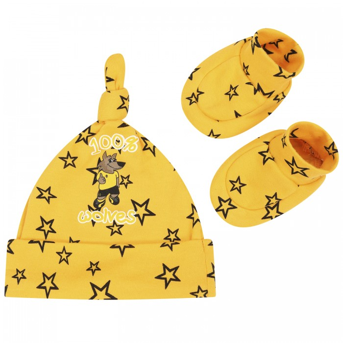Gold Star Hat And Bootee Set