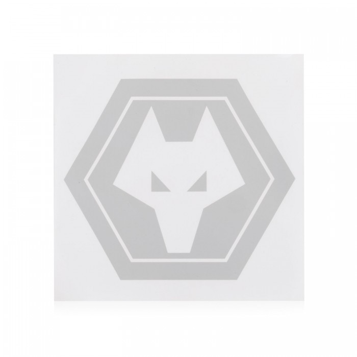 LARGE OPAQUE WOLVES CREST STICKER