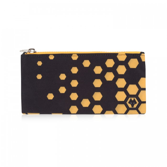 Black and gold zip lock pencil case