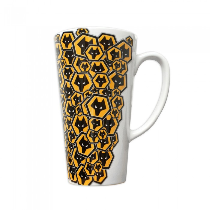ALL OVER CREST LATTE MUG