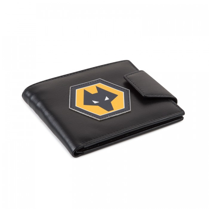 RAISED CREST LEATHER WALLET