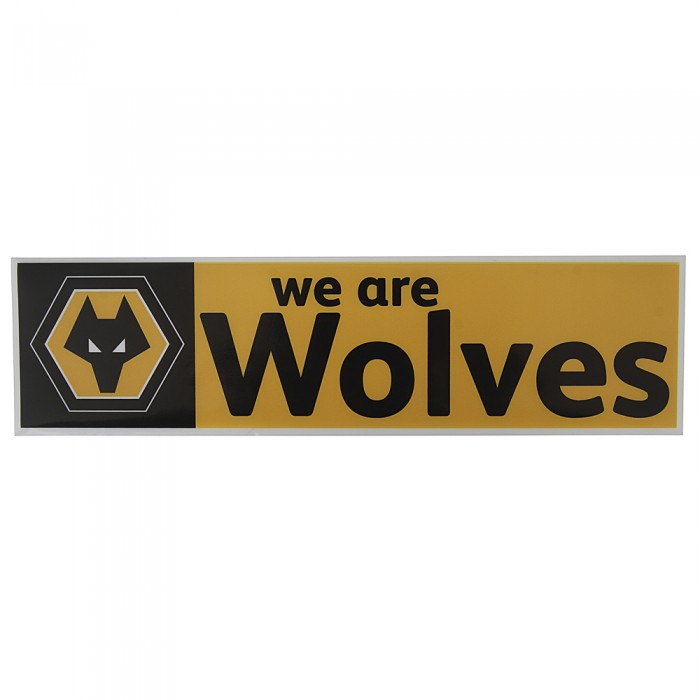 We Are Wolves Car Sticker Blk Gold
